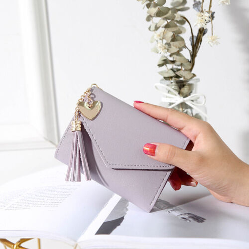 Ladies Money Holder Purse Short Small Wallet Leather Folding Coin ID Card Bag