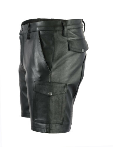 Lederhose 547 kurze Shorts Cargo Leder Ledershorts Glattes Aw Hose echt 06fxwqf