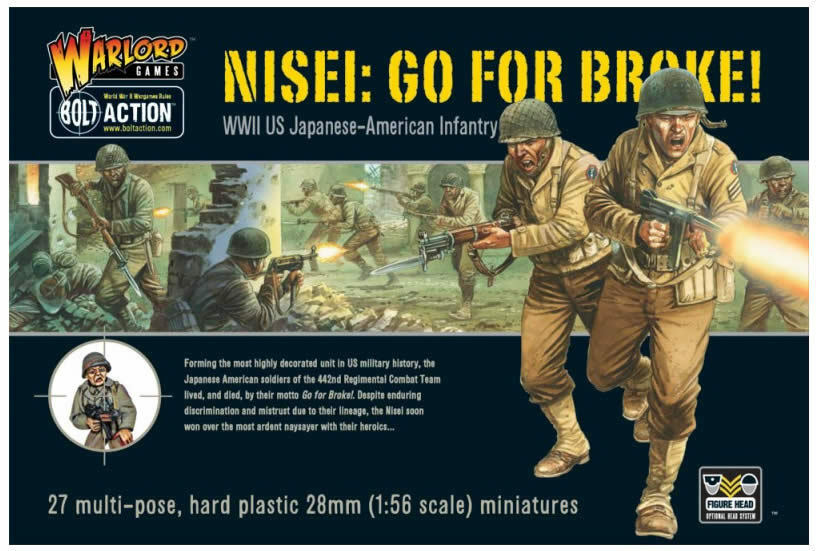 NISEI - GO FOR BROKE - BOLT ACTION JAPANESE US WARLORD 28mm WARGAMING 1ST CLASS
