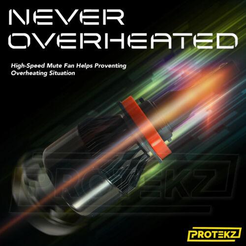 H11 LED Headlight Kit Plug/&Play 60W 7200LM 6K for Acura RL 2005-2012 Fog Light