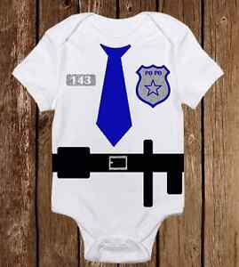 6465b638f Image is loading Adorable-Halloween-Costume-Onesie-Police-Officer-Cop-Funny-