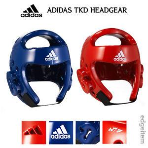 da3779b920dc Adidas Taekwondo Headgear Red   Blue Head Gear WTF Approved Guard