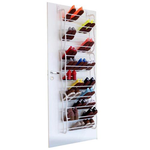 36 Pair Over The Door Hanging Shoe Rack 12 Tier Shelf Organizer Storage Stand