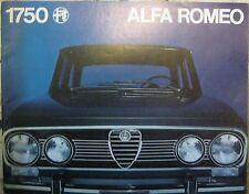* Alfa Romeo 1750 Berlina Brochure Prospekt deutsch  1970  *