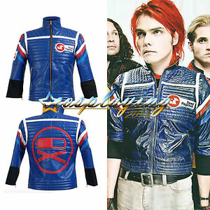 My Chemical Romance Party Poison Jacket Black Blue Cosplay Costume