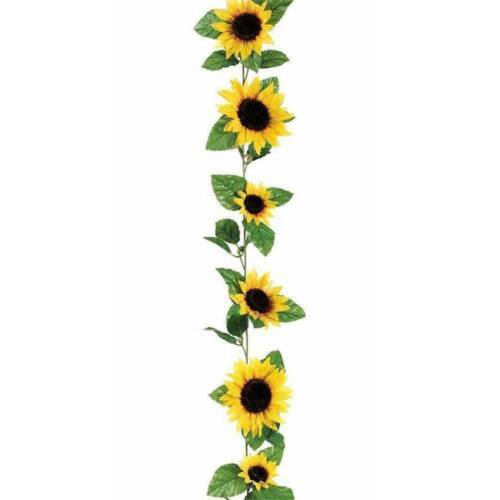 2.6M Artificial Silk Sunflower Leaves Flowers Ivy Vine Garland Party Home Decor