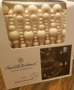Hearth /& Hand Magnolia Wooden Bead Garland 12 Ft Holiday SOLD OUT 2020 New Box