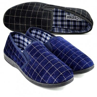 Clever Mens Warm Pull On Moccasin Slipers Very Comfortable Loafers , Uk Sale, Size 7-11 Moderne Techniken