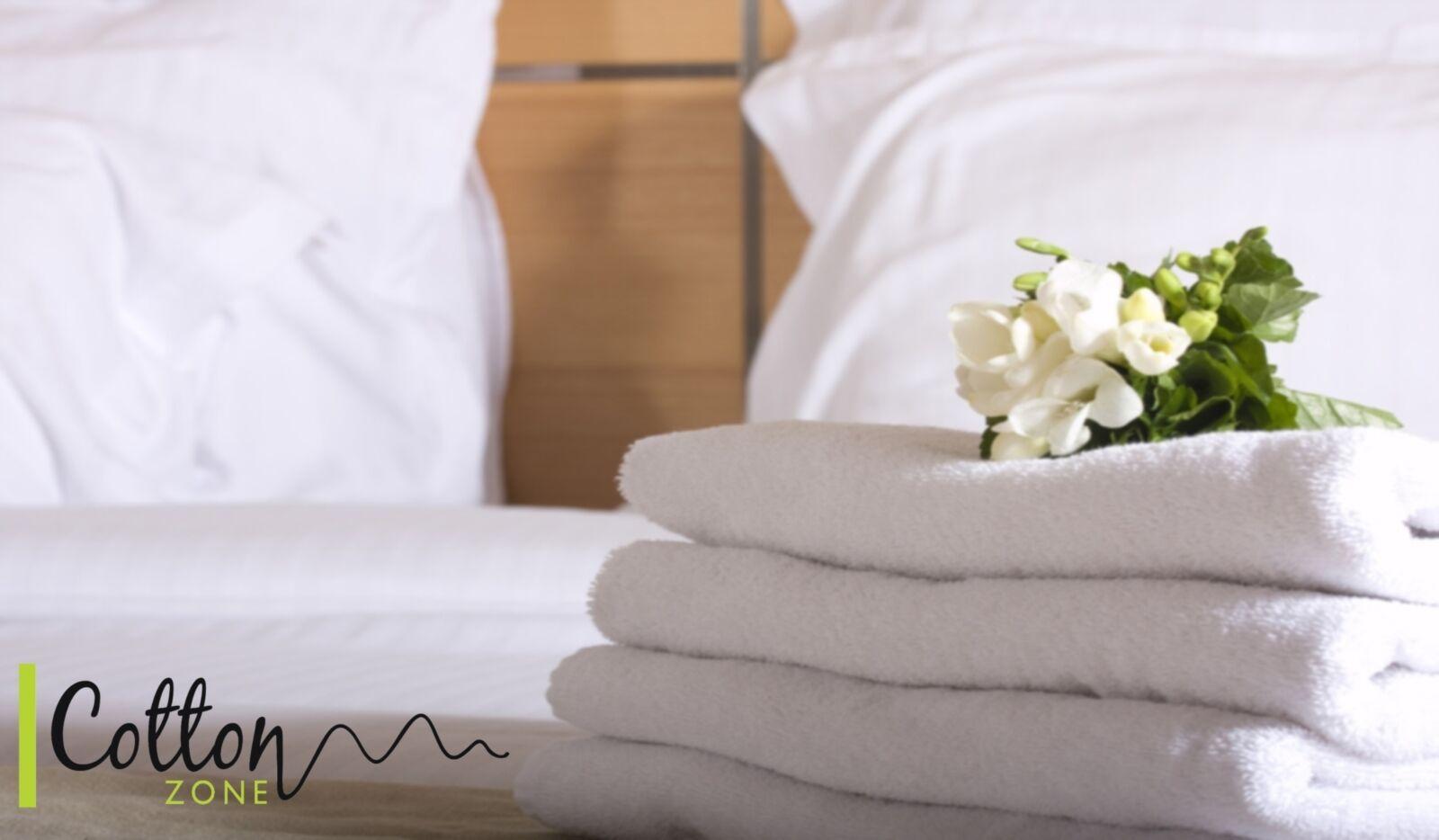 Paquete De 6 toallas de algodón egipcio Hotel Calidad 700 GSM-blancoo Liso