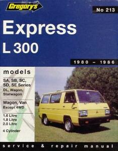 gregorys repair manual mitsubishi express l300 1980 86 ebay rh ebay com mitsubishi l300 delica starwagon service repair manual Mitsubishi L400