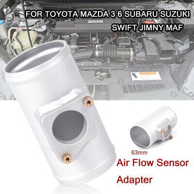 63mm Intake Air Flow MAF Mass Airflow Sensor Adapter Meter Universal Fir for Car