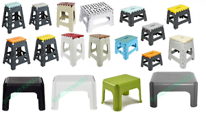 Plastic Stools Step Hop Up Foldable Small Large Stool