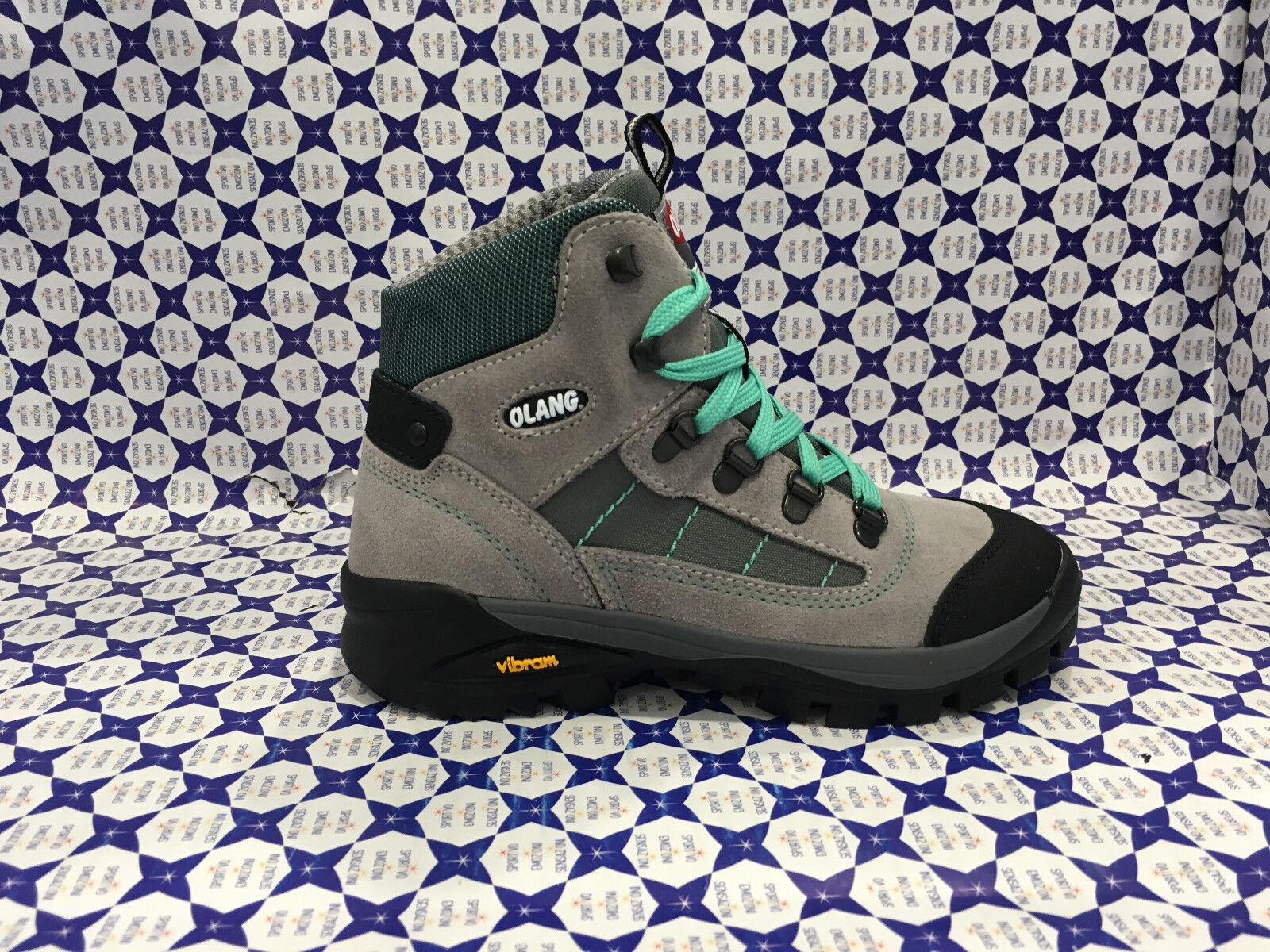 shoes Trekking Olang  Junior Bimba - Tarvisio Tex - grey green - TARVIKID509  best price