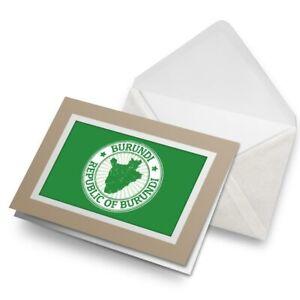Greetings-Card-Biege-Republic-Of-Burundi-Travel-Stamp-4663