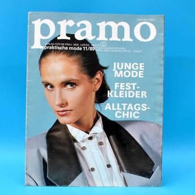 Bescheiden Ddr Pramo 11/1989 Praktische Mode Schnittmuster Jugendweihe Festkleider Mode T Grade Produkte Nach QualitäT