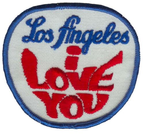 Sew on Vintage Los Angeles I love You Patch
