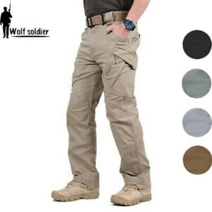 Mens-Outdoor-Military-Tactical-Combat-Trousers-Hiking-Camping-Cargo-Casual-Pants