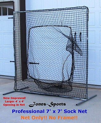 60PLY Batting Cage Repair Kit #42 HDPE Heavy Duty 6/' x 7/' with Twine /&Zip Ties