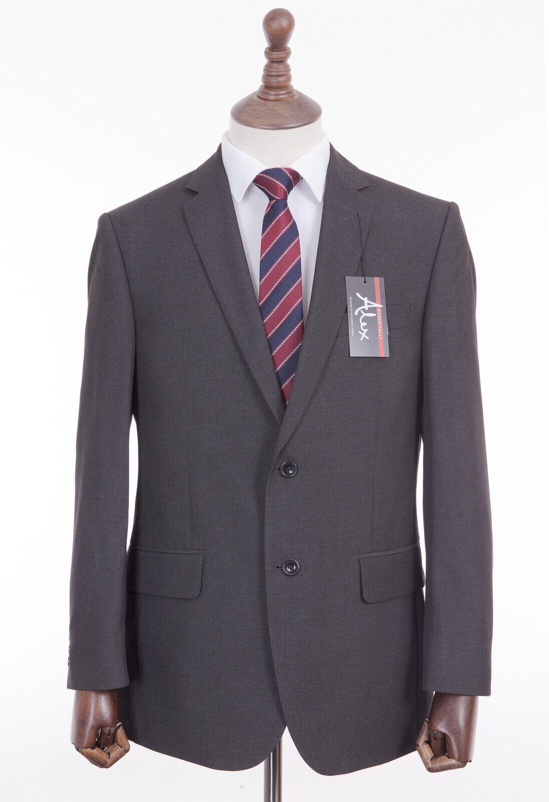 Men's Suit Alexandre London grau 2 2 2 Piece Regular Fit Suit 46R W38 L29 413