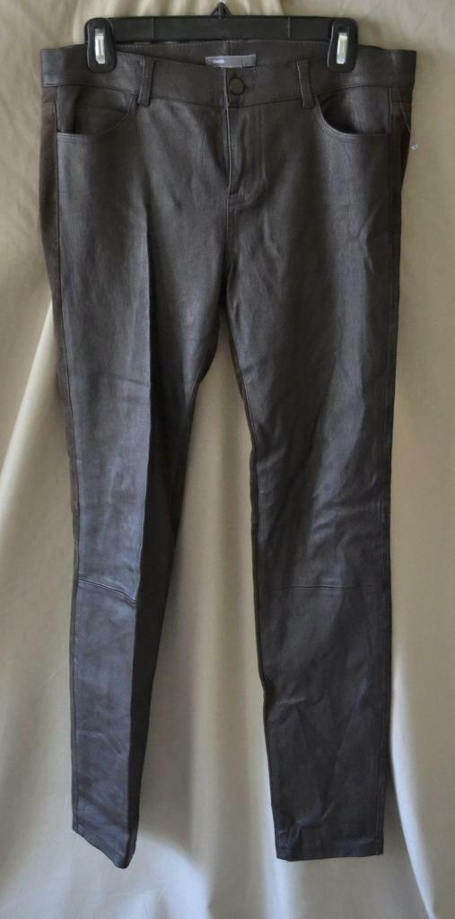Vince Brown Leather & Suede Pants Size 8 NWT  1050