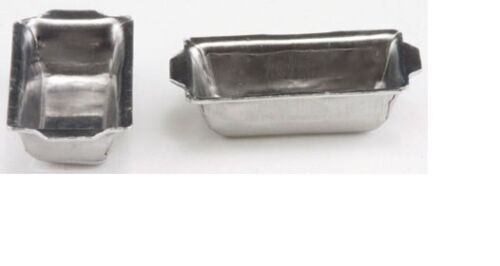 Dollhouse Miniatures 1:12 Scale Aluminum Bread Pans 2pc #IM65592