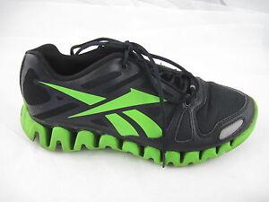 bacc08e8c67 Reebok Zig Tech black neon green running mens tennis sneakers ...