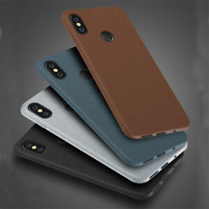 uk availability 4c029 9f78e Details about Sandstone Matte Case Soft Back Cover For Xiaomi Redmi Note 6  Pro 9 6A S2 Mi A2 8