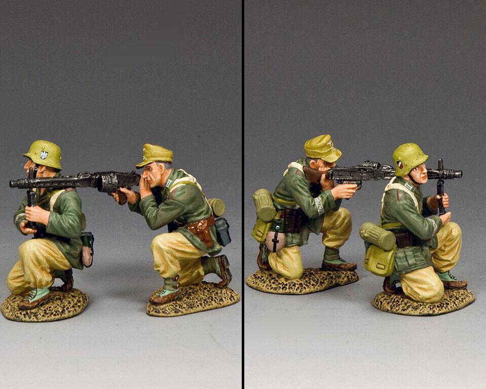 King & Land Afrika Korps AK129 a. K. MG 42 Gun Unterstützung Team MIB