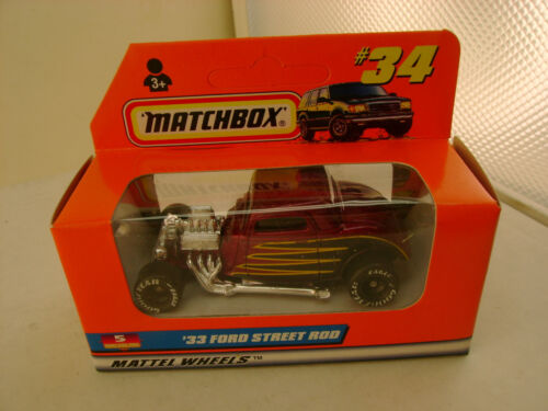 1997 MATCHBOX SUPERFAST #34 /'33 FORD STREET ROD NEW IN BOX