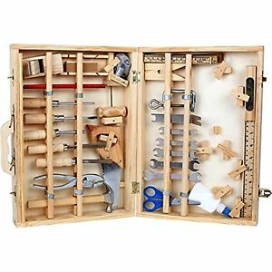 Innovative Kids Woodworking Building Set  Treasure Chest