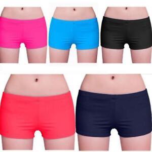 New-Women-Sport-Plain-Shorts-Bikini-Swimwear-Short-Knickers-Bottom-Beach-Pants-Q