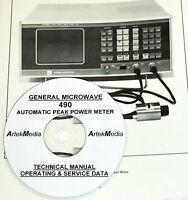 General Microwave 490 Power Meter Ops-service Manual