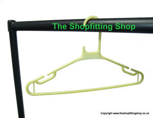 50 x YELLOW Heavy Duty Plastic Clothes Coat Hangers NEW