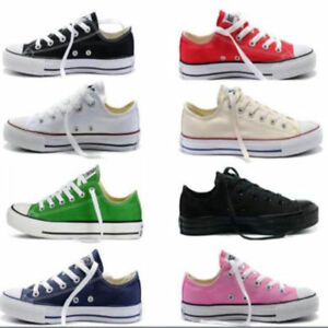 Mens-Womens-Shoes-Classic-Athletic-Sneakers-Low-High-Top-Casual-Canvas-Shoes