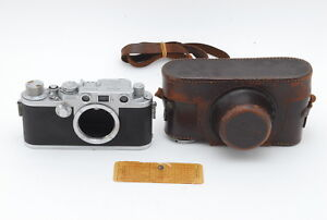 EXC-Leica-IIIf-Black-Dial-Film-Camera-W-Original-Leather-Case-from-Japan