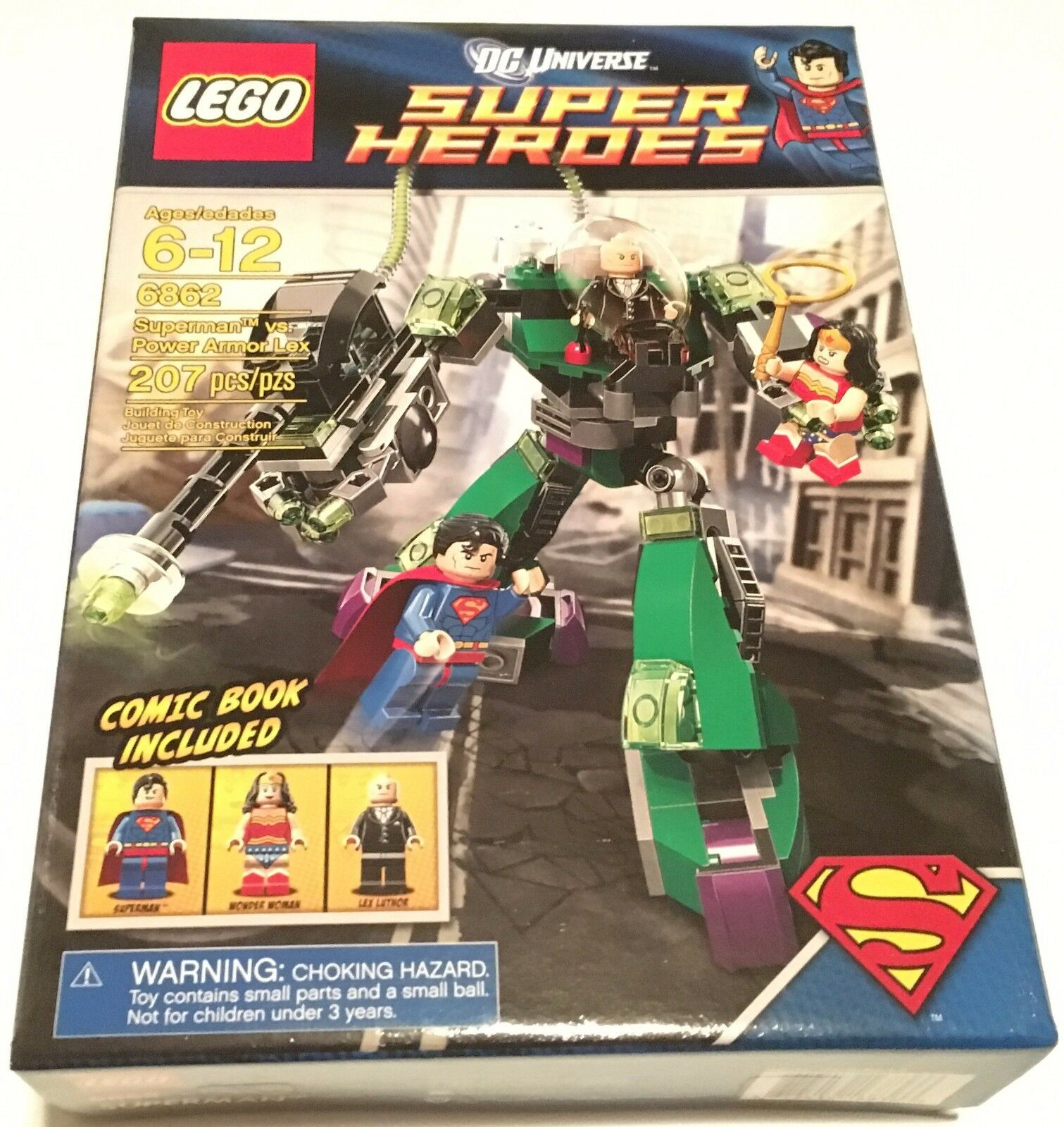 LEGO DC 6862 Superman vs Power Armor Lex NEW NEW NEW Super Heroes w Wonder Woman 50c71d