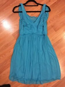 Details About Dress Davids Bridal Malibu Blue Size 6