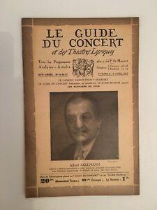El Guía de La Concierto Y Las Teatro Letra Alfred Kullmann N º 25-26-27 1931