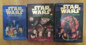 STAR-WARS-THRAWN-TRILOGY-HARDCOVER-LOT-BY-TIMOTHY-ZAHN-V2-amp-V3-ARE-1st-EDITIONS