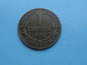 France-1902-Centime-in-Good-Condition