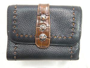 Brighton-Clutch-Wallet-Black-Leather-Tri-fold-JS