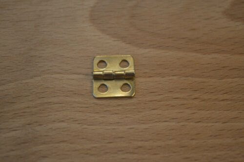 SMALL BRASS PROKRAFT PKR MBH 4 per set with screws GOLD FINISH HINGES