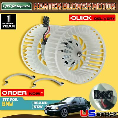 HVAC Blower Heater Motor Double Shaft for BMW E46 3 Series 320i X3 64118372797