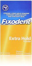 Fixodent Denture Adhesive Powder Extra Hold 1.6 Oz
