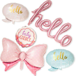 NEW-Baby-Shower-Party-Decoration-BABY-Boy-amp-Girl-Foil-Balloons-Set-Pink-Blue-Baby