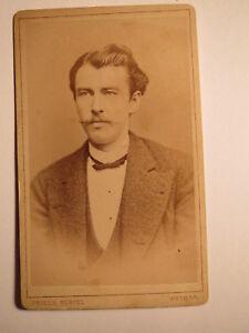 DéTerminé Weimar-tübingen Ss 1877-fr. Bretschneider Comme étudiant-portrait/cdv-afficher Le Titre D'origine