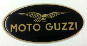 1 Adesivo Moto Guzzi Nero & Gold 4 Cm 3d Resinato Avoir Un Style National Unique