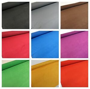 25-Cols-FLAME-PROOF-Faux-Suede-Suedette-Upholstery-Fabric-225-Grams-150-cms-Wide