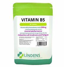 Lindens Pantothensäure Vitamin B5 - 500mg 180 Kapseln  DOPPEL PACK