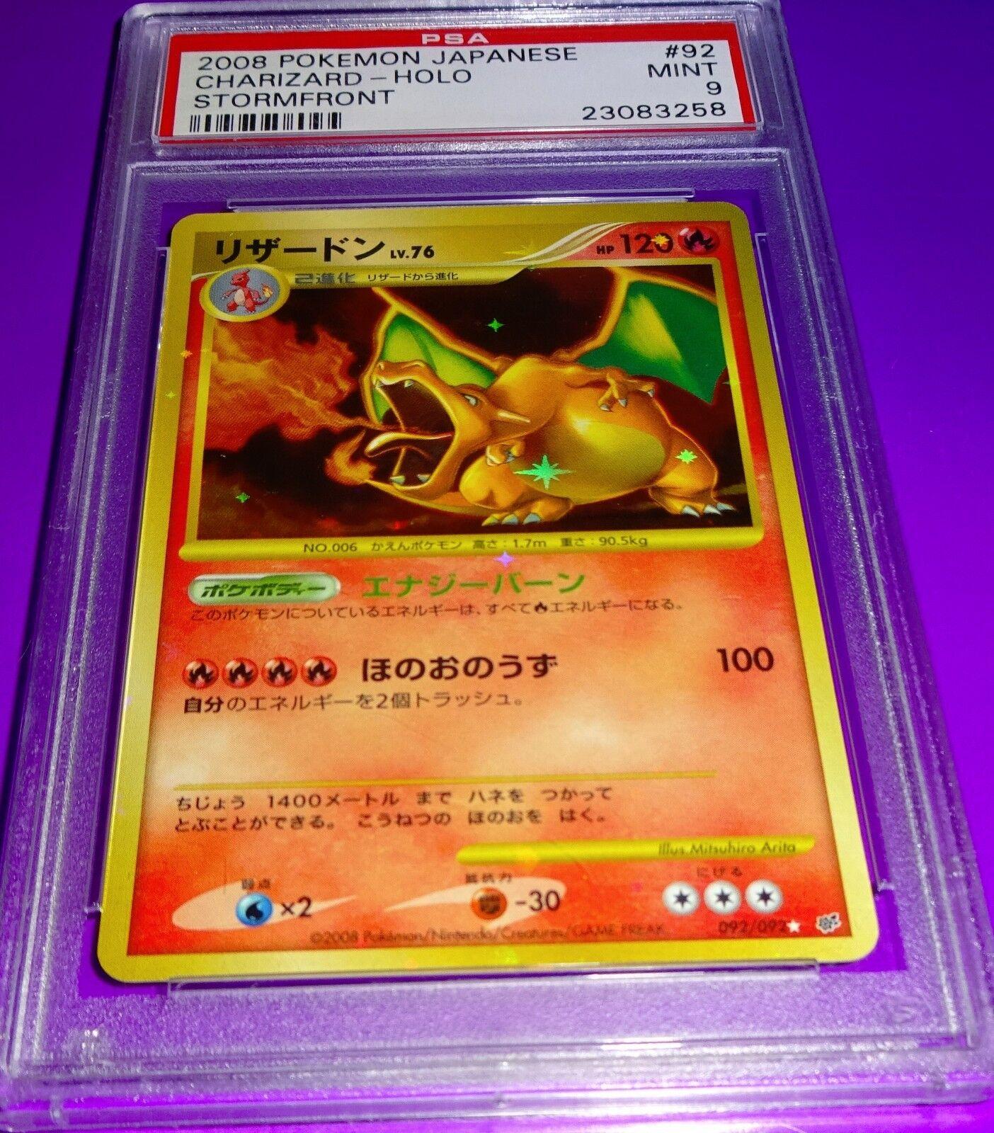 Pokemon Charizard Charizard Charizard Japanese Stormfront Holo  PSA 9 5ad13e